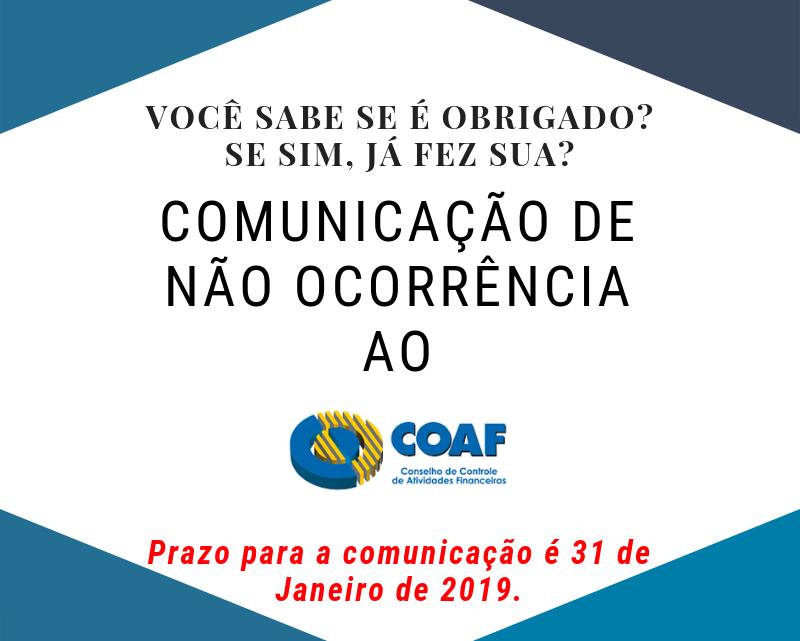 Comunicação de Não Ocorrência – COAF